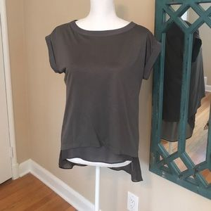 Grey Blouse with lining